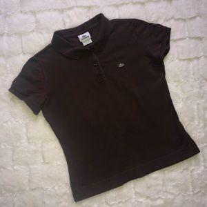 Lacoste brown polo shirt size L
